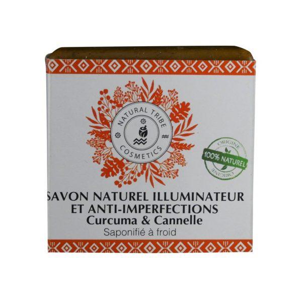Savon Naturel illuminateur & anti-imperfections Curcuma & Cannelle
