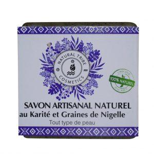 Savon naturel au karité & graines de nigelle